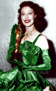 Loretta Young with her Oscar